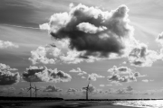 Clouds and wind turbines
