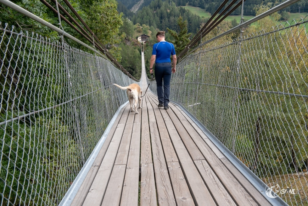 Vertrauen - Hängebrücke Fürgangen-Mühlebach Schweiz 2018